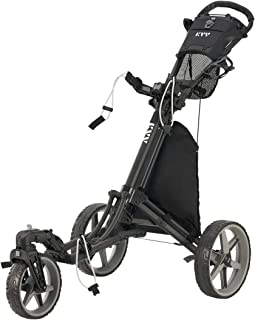 Sponsored Ad - KVV 3 Wheel 360 Rotating Front Wheel Foldable/Collapsible Golf Push Cart with Foot Brake Open and Close in ...