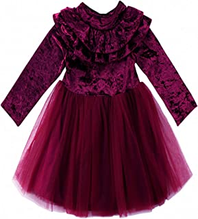2Bunnies Girl Baby Girl Embroidered Beaded Lace Ruffled Tiered Tutu Tulle Party Dress