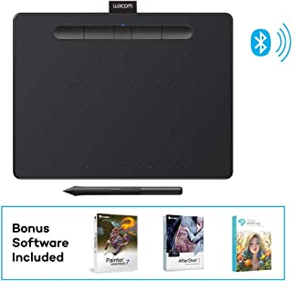 Wacom Intuos Wireless Graphics Drawing Tablet with 3 Bonus Software Included, 10.4