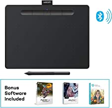 "Wacom Intuos Wireless Graphics Drawing Tablet with 3 Bonus Software Included, 10.4"" X 7.8"", Black (CTL6100WLK0)"
