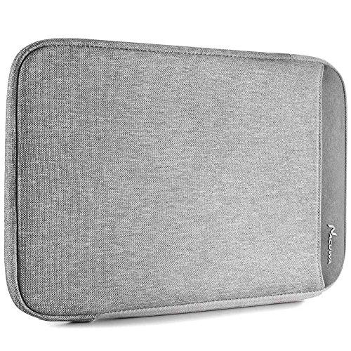 New iPad Pro 11 2018 Sleeve Case, Nacuwa 9.7-10.5 inch Tablet Sleeve Bag Compatible iPad Air/Air 2, iPad 1/2/3/4, iPad Mini, Galaxy iPad, Fit for Apple Pencil & Smart Keyboard with Pocket Gray