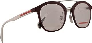 Prada PS02HV Eyeglasses 50-21-135 Bordeaux Rubber w/Demo Clear Lens U601O1 VPS 02H PS 02HV VPS02H
