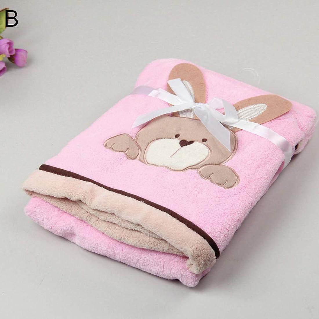 フェードアウト許可する件名毛布 赤ちゃん新生児 毛布 ベビーベッド ブランケット かわいい サンゴフリースエッジング ソフト ぬいぐるみ 女の子 男の子 暖かい ひざ掛け 冷房対策 軽い 柔らかい 防寒 通年使用 プレゼント ベビーカー用 B