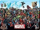 Marvel Comics AFWDC99847 Toile Imprimée, Multicolore, 60 x 80 cm
