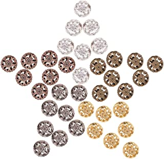 PH PandaHall 100pcs 5 Color 23mm Iron Round Filigree Beads Hollow Ball Metal Spacer Beads for DIY Necklace Charm Bracelet Jewelry Making
