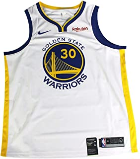 7672d801cb5 Stephen Curry Autographed Signed Golden State Warriors Nike Dri-FIT Men s  Swingman Association Jersey -