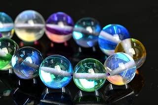 OutletBestSelling Bracelet Art Crafts 10MM Rainbow Mystic Aura Quartz Beads Grade AAA Round Gemstone Loose Beads 7.5