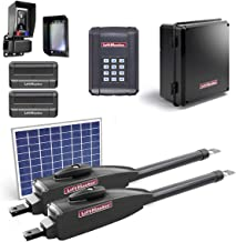 LiftMaster LA412PKGU / LA412PKGUL Dual Gate Opener Kit 2019 UL325 Compliant with 1 10 Watt Solar Panel, Two 811LM Remotes, KPW5 Wireless Keypad, Safety Photo-Eye & Free A Heavy Duty FAS Tape Measure