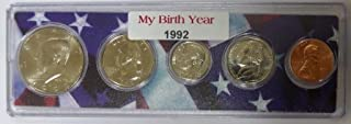 1992-5 Coin Birth Year Set in American Flag Holder Uncirculated
