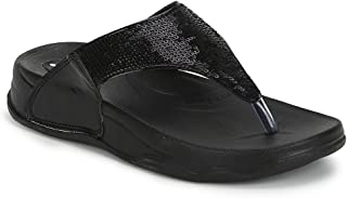 Welcome Pure Hf-06 Synthetic Black Flip Flops For Women