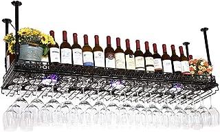 JFFFFWI Support à Verre à vin à l'envers Casier à vin Style Simple Fer à Suspendre Support à Verre à vin Plafond de décora...