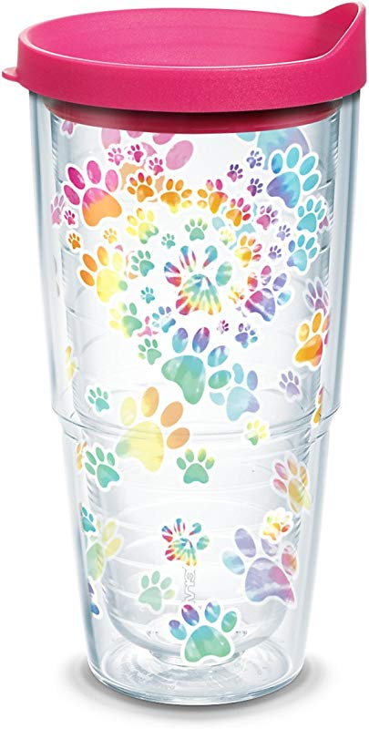 Tervis 1305033 Project Tie Dye Paw Heart Tumbler 24 Oz Clear