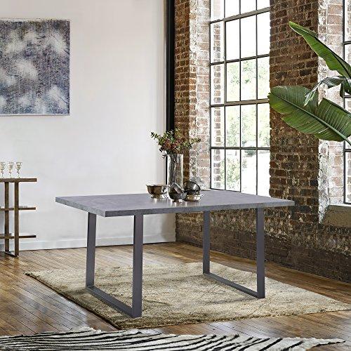 Armen Living Fenton Dining Table Cement Gray