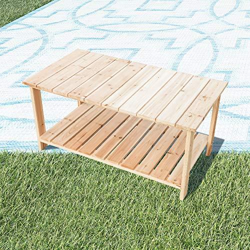 LOKATSE HOME Adirondack Wooden Tea Table, Natural