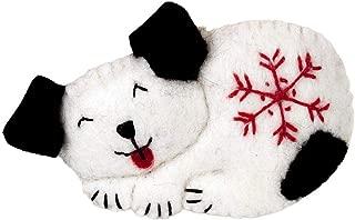 Wild Woolies Snowflake Puppy Felt Ornament