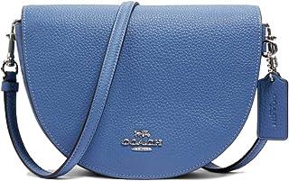 Coach Womens Handbags & Shoulder Bags Ellen Crossbody Classic Leather Half Moon Gold Logo Stone Blue C1432