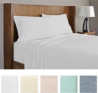 Royale Linens Soft Tees Cotton Modal Jersey Knit Sheet Set, Full, Silver