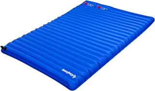 KingCamp Light Camping Sleeping Air Mattress Pad with Built-in Foot Pump, Single and Double Two Size