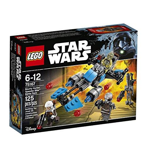 LEGO star wars bounty hunter speeder bike battle pack kit di costruzione 75167 multicolore