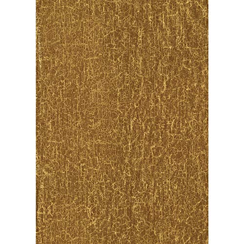 Décopatch Papier No. 475 Packung mit 20 Blätter (395 x 298 mm, ideal für Ihre Papmachés) gold, craquelé