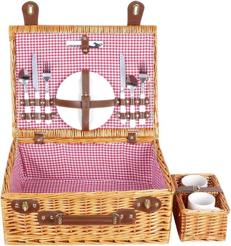 LiPengTaoHome Picnic Basket Wicker with Cheap bargain an Cutlery online shop