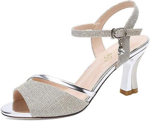 Sandales à Poisson Pour Femmes, Bout Ouvert Sandales à La Mode Estivale Sandales à Talons Hauts