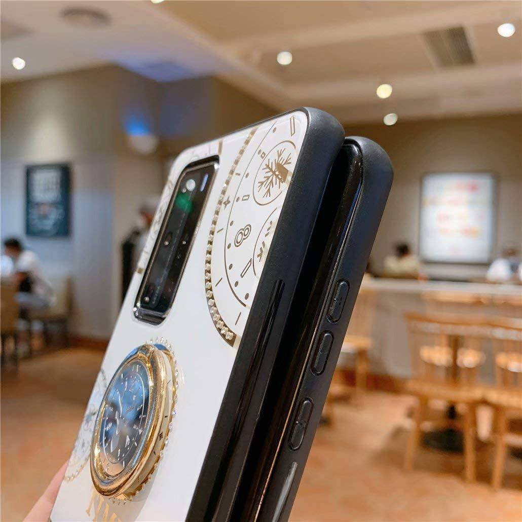 -Dorado CRABOT Compatible con Samsung Galaxy A70 Simulaci/ón Diamante Carcasa de telefono Funda Golpes Soporte Giratorio Anti-ca/ída Caso 1 * Protector de Pantalla Gratuito+ Acollador