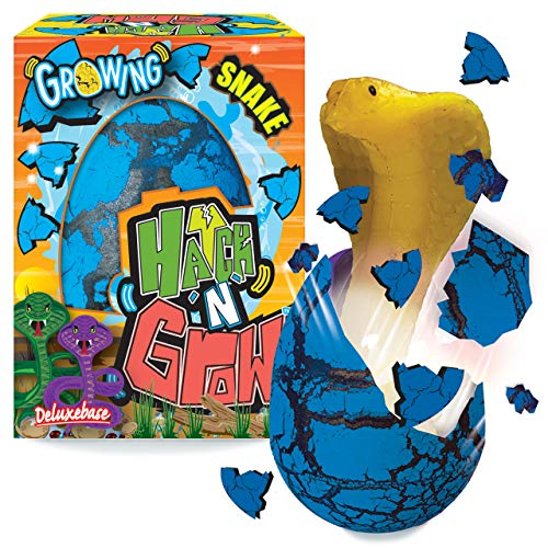 Hatch 'N' Grow Huevo Sorpresa - Serpiente de Deluxebase. Huevo Grande para incubar de 11 cm con una Criatura. Al colocarlo en el Agua aparecerá un Juguete mágico, es Ideal para niños y niñas