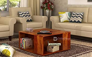 DriftingWood Solid Sheesham Wood Coffee Table for Living Room | Center Table | Teak Finish