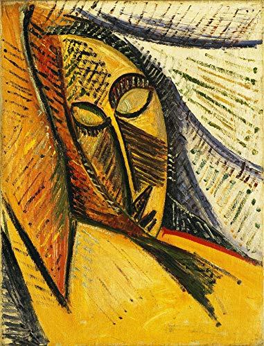 Pablo Picasso Head of a Sleeping Woman - Film Filmplakat - Beste Print Kunstdruck Qualität Wanddekoration Geschenk - A0 Gemälde (40/30 inch) - (102/76 cm) - Gestreckt, fertig zum Aufhängen