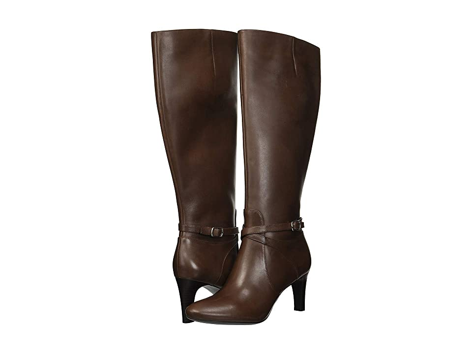 LAUREN Ralph Lauren Elberta (Dark Brown Burnished Calf) Women