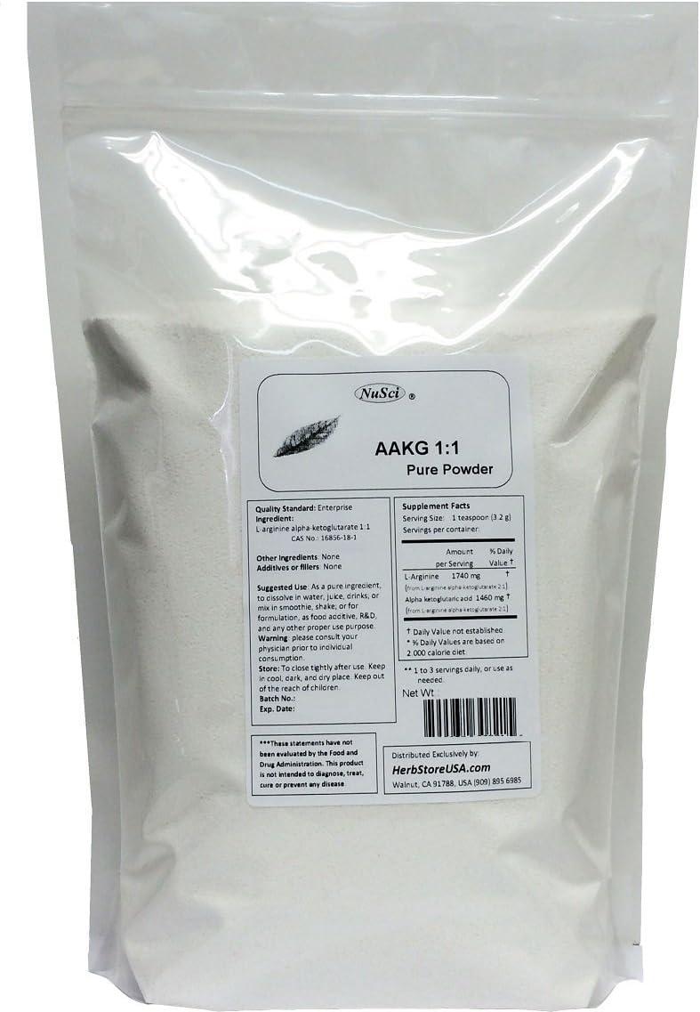 NuSci AAKG Max 59% OFF 1:1 L-Arginine Pure low-pricing Powde Alpha Ketoglutarate