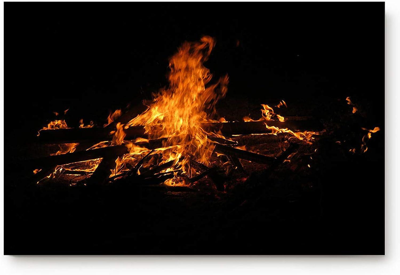 Laibao Easter Burning Fire Firewood Home Floor Mat Indoor Bathroom Bedroom Rug 20x31.5inch