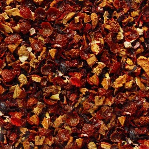 Früchtetee lose Maracuja-Orange Früchtchen Hagebutten, Hibiskus, Apfel, Orangen Früchte Tee 100g