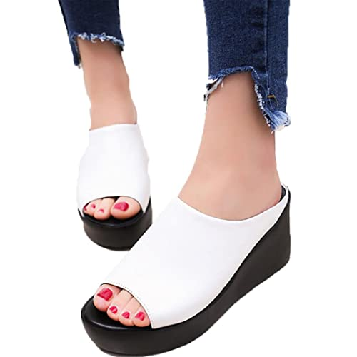 good quality size 40 world-wide selection of Wide Fit Wedge Sandals: Amazon.co.uk