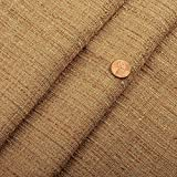 56' Wide Linen Tweed Textured Solid Drapery Upholstery Fabric Natural by The Yard