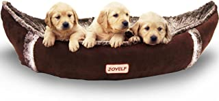 JOYELF Orthopedic Dog Bed with Washable Cover Pirate Ship Dog Bed for Small to Medium Dogs and Squeaker Toys as Gift