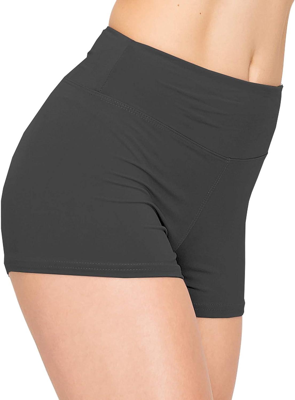 ALWAYS Women Workout Yoga Shorts Premium Buttery Soft Solid Stretch Cheerleader Running Dance Volleyball Short Pants