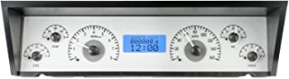 Dakota Digital 77 - 90 Chevy Impala / Caprice VHX Analog Dash System Silver Alloy Blue VHX-77C-CAP-S-B