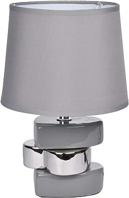 HOMEA 6LCE071GR LAMPE, CERAMIQUE, 40 W, GRIS, L.17l.17H.24.5CM