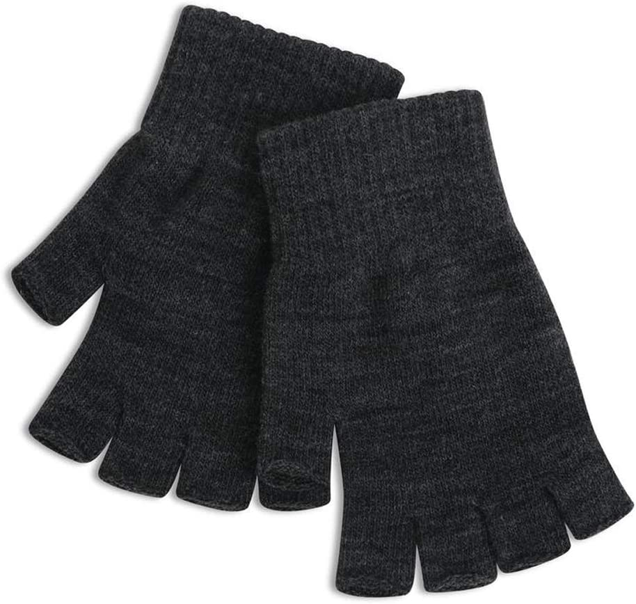 Rebily Half Finger Gloves Female Autumn Winter Keep Warm Cold Protection Knitting Touch Screen Outdoor Driving Riding Fingerless Gloves