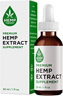 Hemp Theory Hemp Extract Supplement with 600 mg of Hemp Extract (Contains NO CBD) for Pain Relief, Anti Anxiety, Stress Relief and Sleep