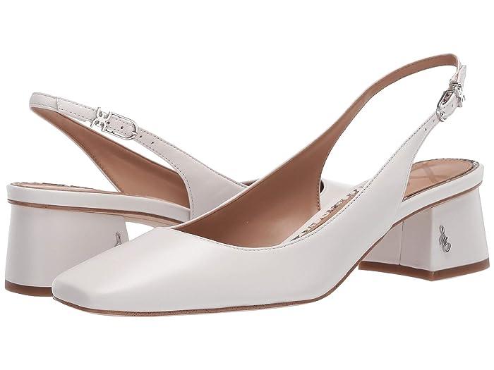 70s Shoes, Platforms, Boots, Heels Sam Edelman Tamra Bright White Dress Nappa Leather Womens Shoes $84.99 AT vintagedancer.com