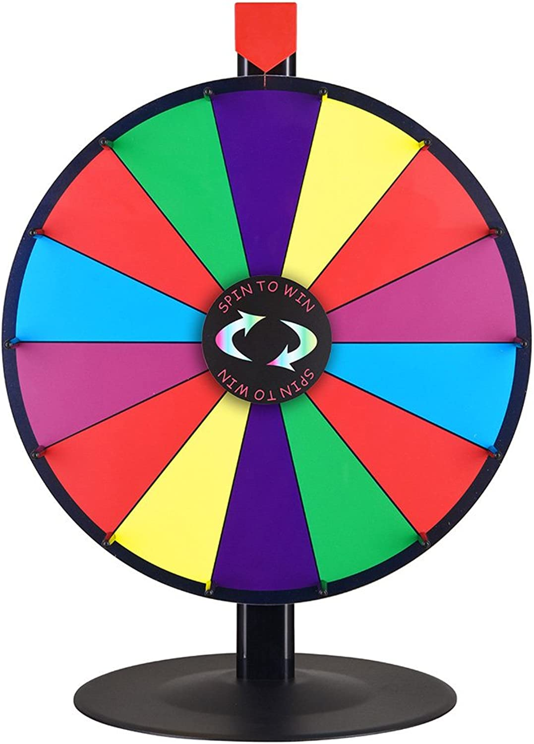 WinSpin 18 Inch Tabletop color Prize Wheel 14 Slot Spinning Game with Dry Erase Tradeshow Carnival