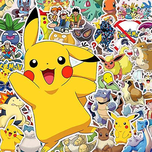 30/50 pegatinas de dibujos animados anime Pokémon Kawaii Pikachu pegatinas para monopatín, bicicleta, portátil, niños, impermeable, juguetes