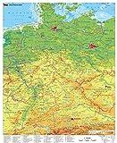 Deutschland physisch Wandkarte / Poster