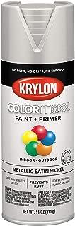 Krylon K05589007 COLORmaxx Spray Paint, Aerosol, Satin Nickel