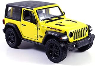 Jeep Wrangler Rubicon 4x4 Hard Top Off Road Exploration Diecast Model Toy Car Yellow