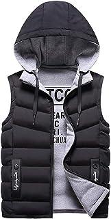 MIKAMU ダウンベスト メンズ 全3色 L-3XL 防寒 暖かい アウトドアウェア 帽子付き ダウンベスト 両面着れる服 カジュアル メンズ 秋 冬服 厚手 ベスト