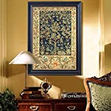 Faraway Money Tree of Happy 5D DIY Full Diamond Painting Chinese Style Decorated Living Room Xmas Gift Mosaic Kits Embroidery Rhinestone Painting for Wall Decor 16X20inch